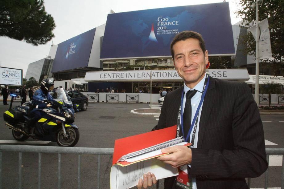 David Lisnard, président de la commission tourisme de l'association des maires de grandes villes de France et 1er adjoint de Cannes (ici pendant le G20) , veut faire pression sur les candidats à la présidentielle pour une meilleure prise en compte de l'activité touristique.