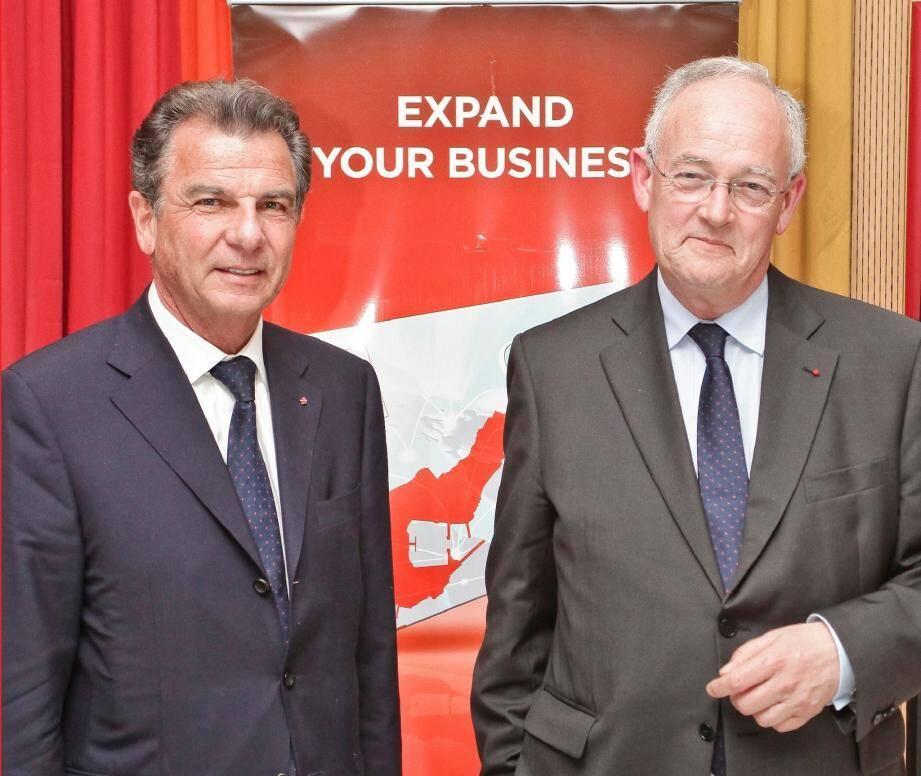 Michel Dotta (à gauche), réélu.