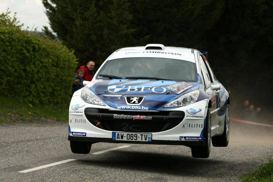 Sur des routes qu'il découvrait, au Rallye du Touquet comme au Lyon-Charbonnières (ci-dessus), Freddy Loix (Peugeot 207 Super 2000) à fait forte impression et récolté des gros points.