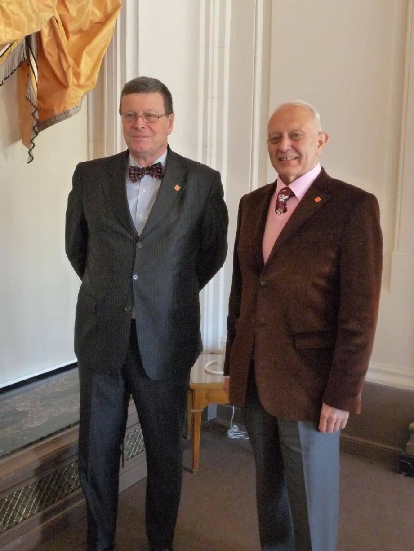 Jean-Pierre Diserens, secrétaire général de la CIFA et Guy Cohen, président du comité d'organisation du forum réunis en Principauté pour leur dixième forum.