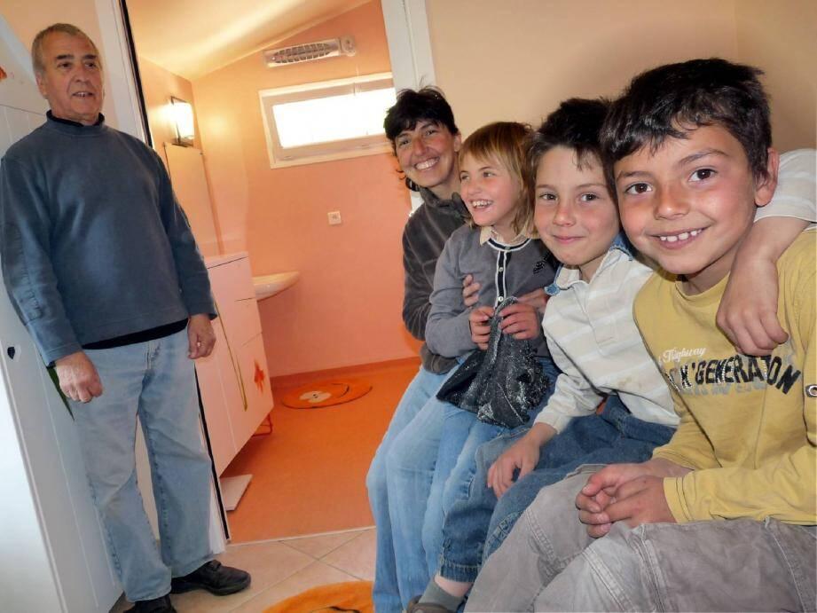 La famille Allonge peut dorénavant compter dans la maison sur un espace adapté et dédié à Isabel.