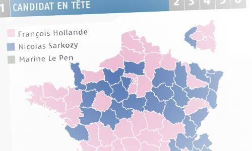 La carte des votes
