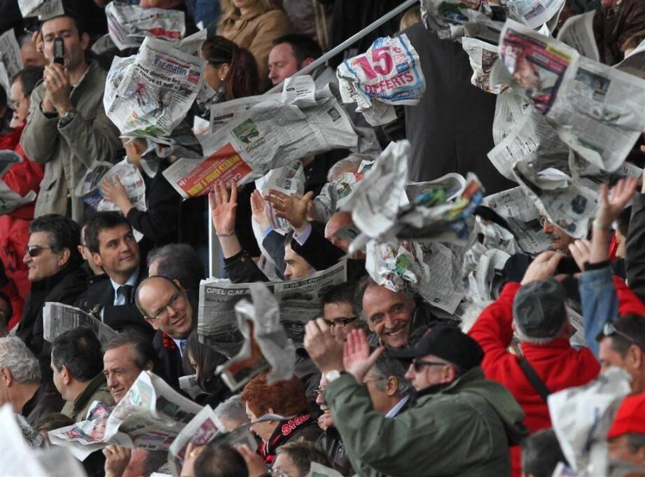 Le Prince Souverain Albert II de Monaco avait déjà assisté à liesse des tribunes du stade Mayol lors d'un match contre Bayonne en 2010