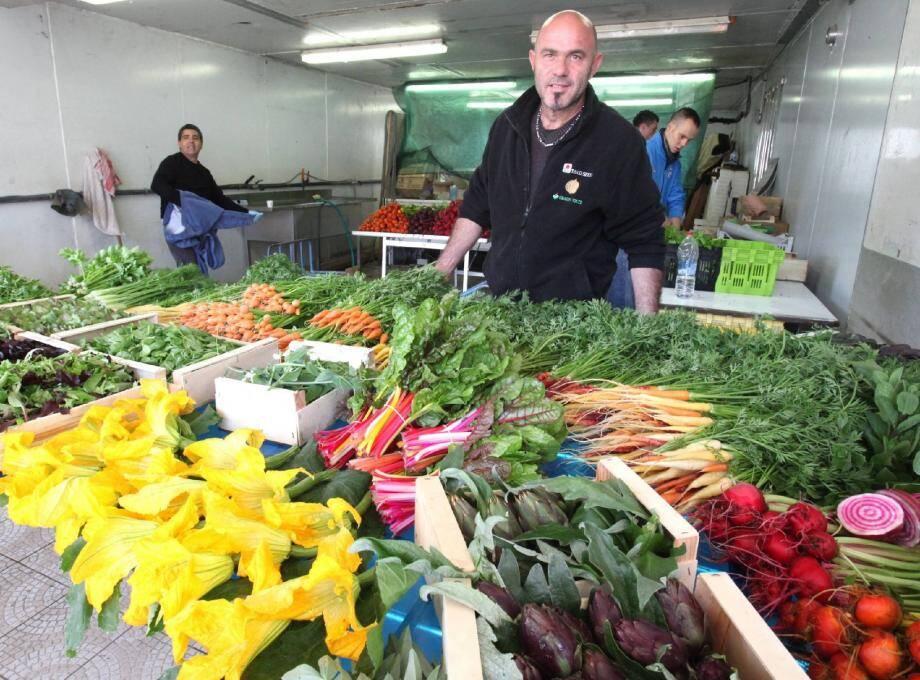 Patrick Massi fait «tout ce que les autres ne font pas», en l'occurrence des mini-légumes.