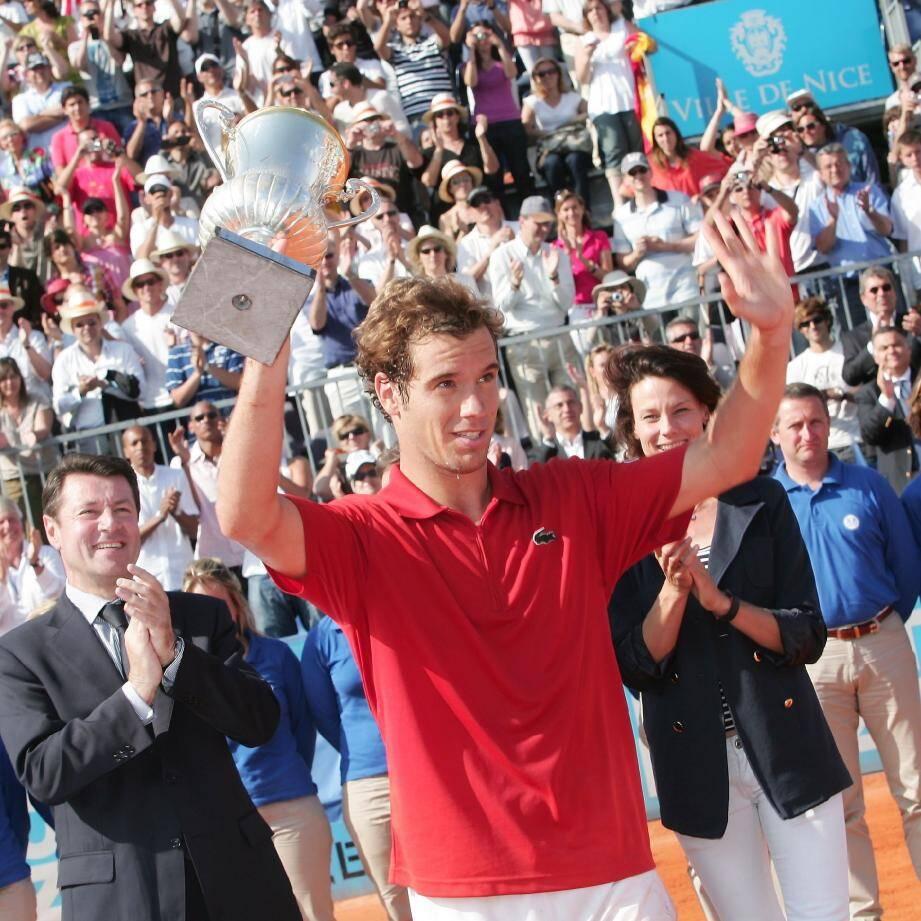 Richard Gasquet, vainqueur de la première édition en 2010.