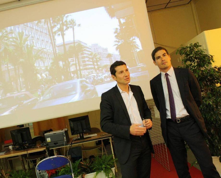 Le premier adjoint de Cannes, David Lisnard, et le président-directeur de l'Ina, Mathieu Gallet, ont inauguré hier, dans le salon jaune de l'hôtel de ville, l'exposition qui dure jusqu'au 27 mai.