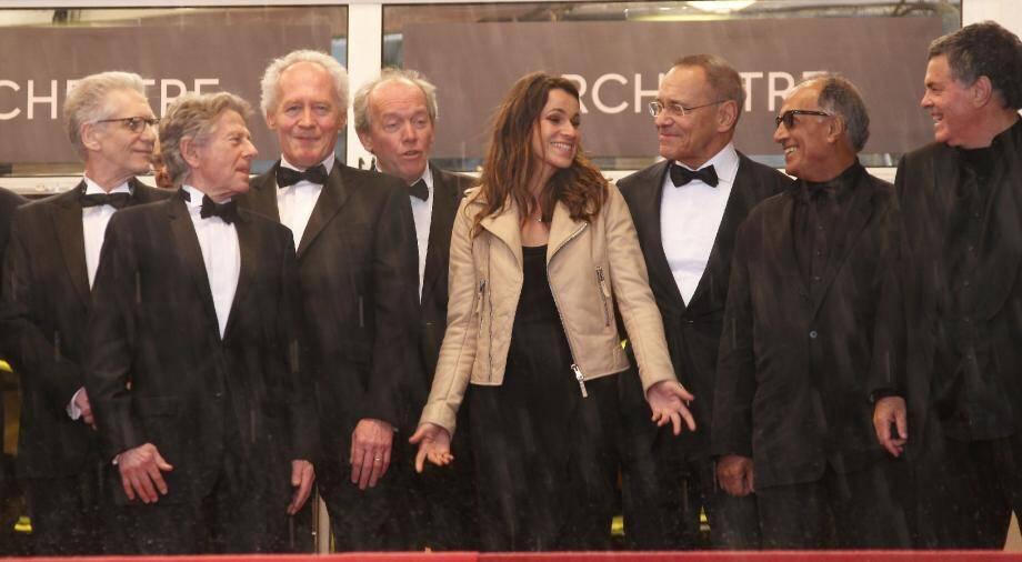 Aurélie Filippetti entourée de noms prestigieux du cinéma, notamment David Cronenberg, Roman Polanski, les frères Dardenne, Abbas Kiarostami.