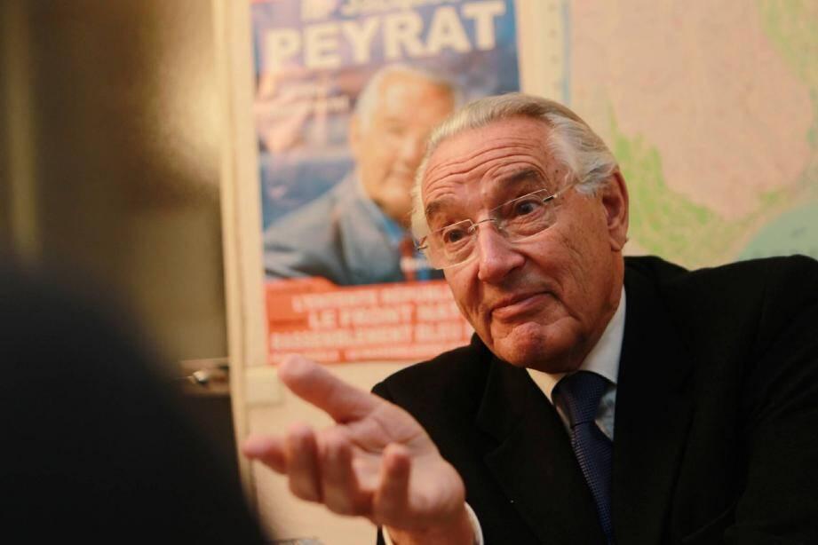 Jacques Peyrat affronte l'élection législative mais songe déjà aux municipales, dans deux ans.