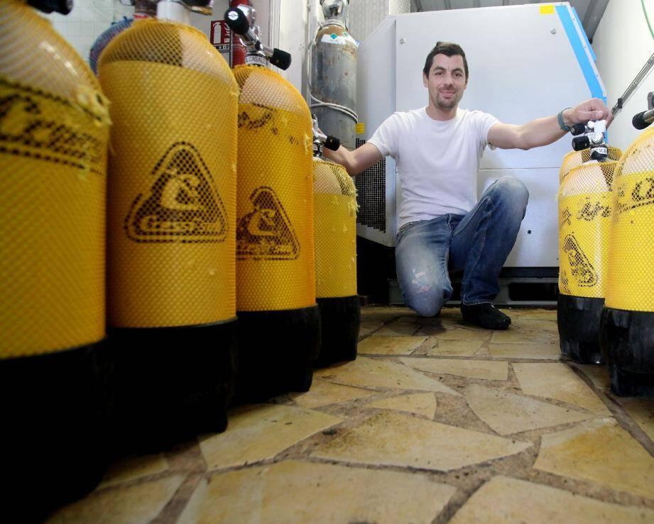 Le plongeur a passé son brevet d'Etat au CRESPS d'Antibes en octobre dernier.