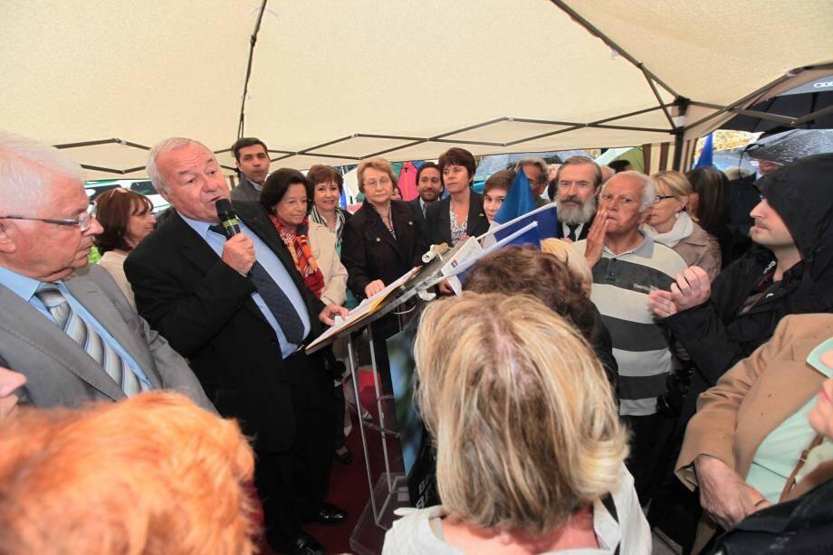 Bernard Brochand a lancé officiellement sa campagne à Mandelieu-La Napoule.