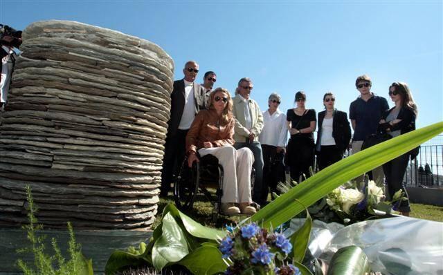 Cérémonie en hommage aux victimes du drame de Furiani, 20 ans après, le 5 mai 2012.