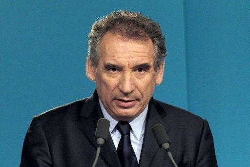 François Bayrou le 3 mai 2012 au siège du MoDem à Paris