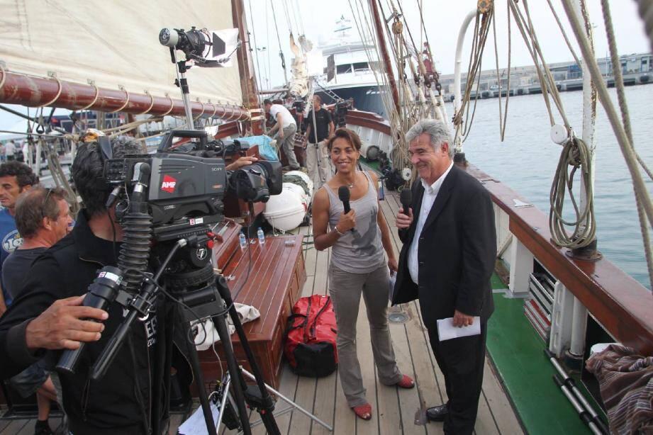Ultimes répétitions, hier soir, pour toute l'équipe de Thalassa en attendant le coup d'envoi de l'émission ce soir à 20 h 30. A suivre sur le petit écran... Mais aussi grandeur nature sur le port de Nice.