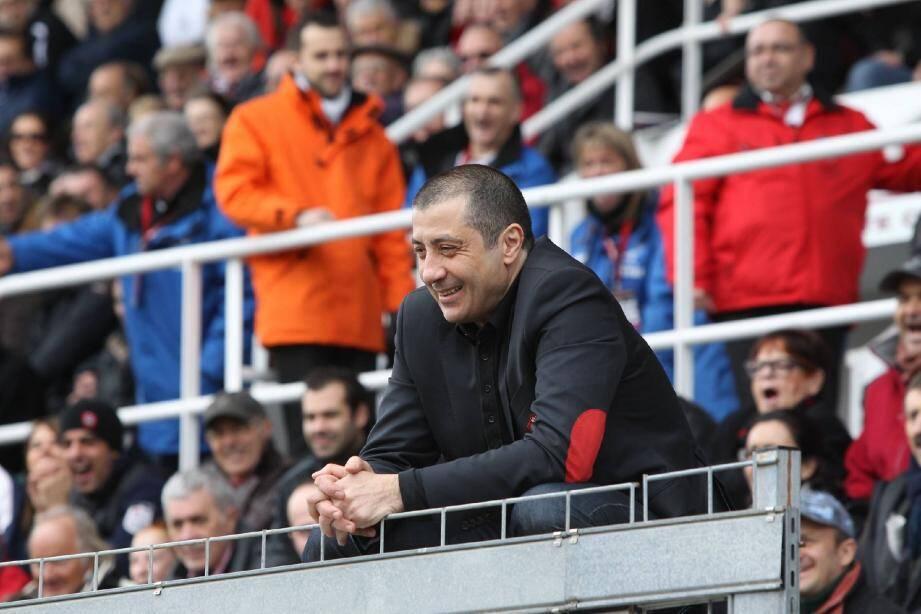 Le président du RCT garde le sourire. Son club est encore en lice pour le titre de champion de France après être passé près de l'élimination face au Racing-Métro.