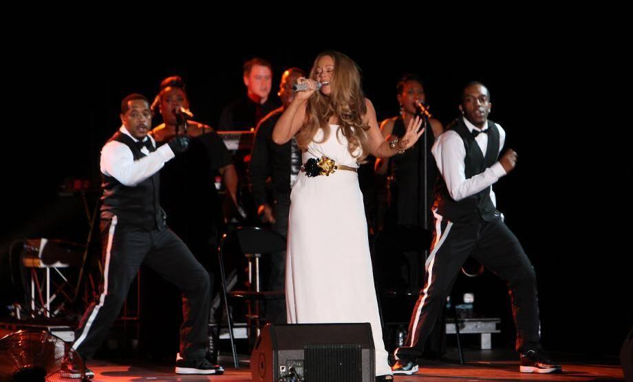 Mariah Carey, une diva sur la scène de la salle des Étoiles, samedi soir.