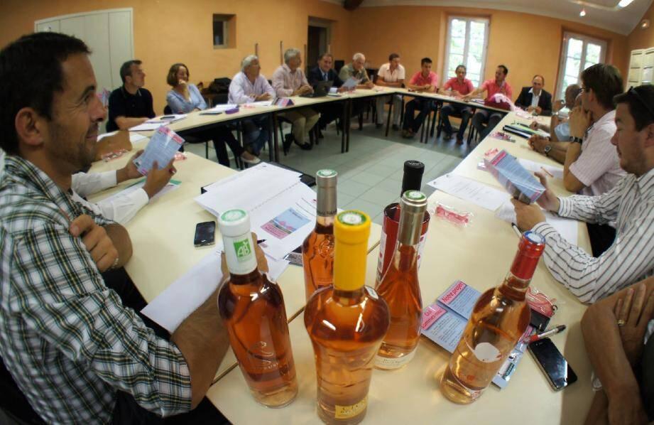 L'idée a germé. Aujourd'hui « La Journée Rosé de Provence » se concrétise grâce au dynamisme des jeunes agriculteurs et viticulteurs locaux réunis à Vidauban lors d'une réunion d'organisation.