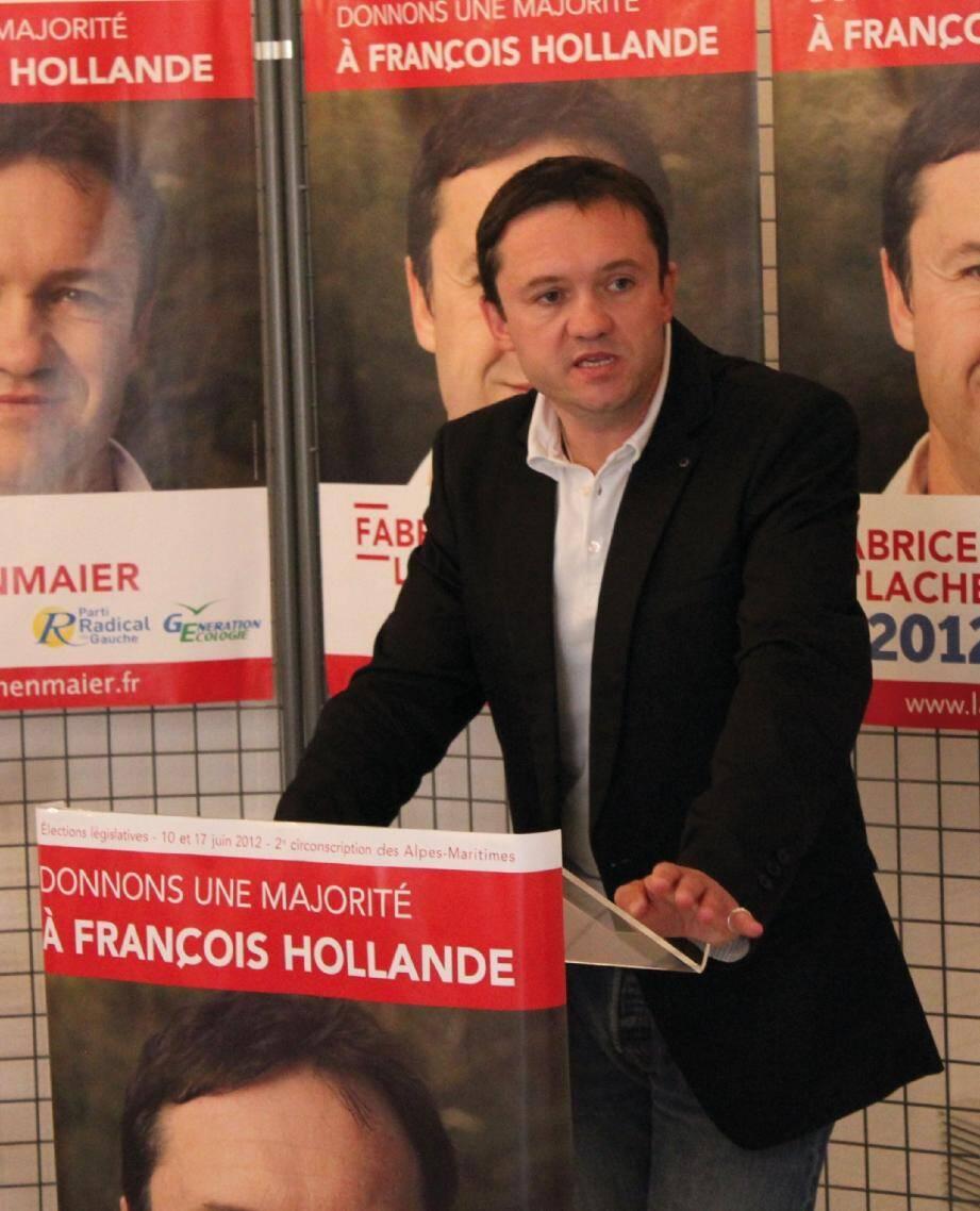 Dans le village où il est élu, Fabrice Lachenmaier a décliné les grandes lignes de son programme.