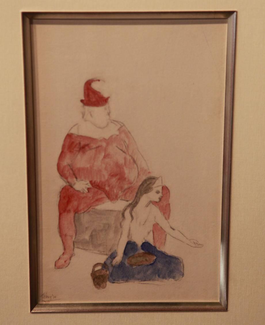 C'est cette toile de Picasso, «Le Saltimbanque », qui avait été copiée.