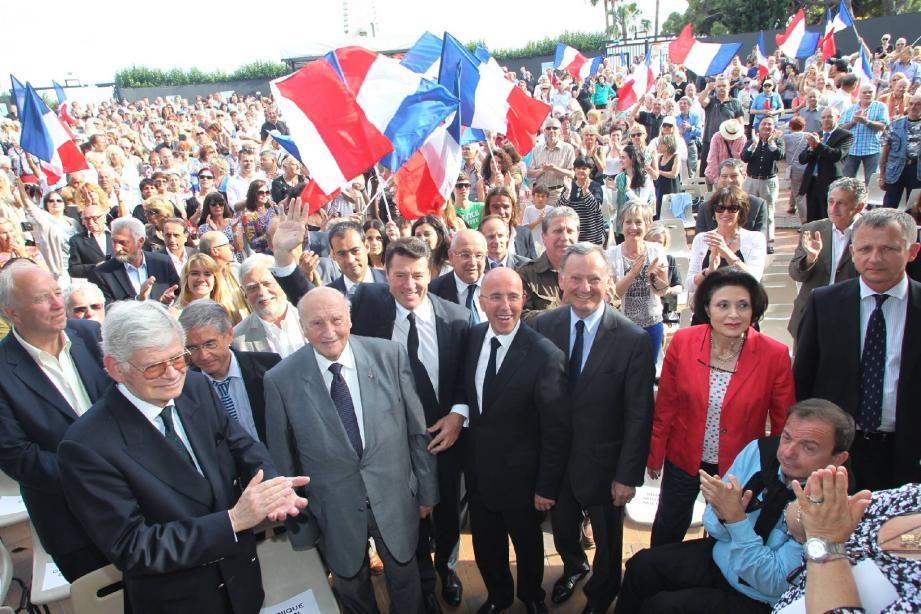 Les trois députés de Nice sont venus chercher des raisons d'espérer en leur réélection auprès de 1 500 sympathisants réunis hier soir au Théâtre de Verdure.