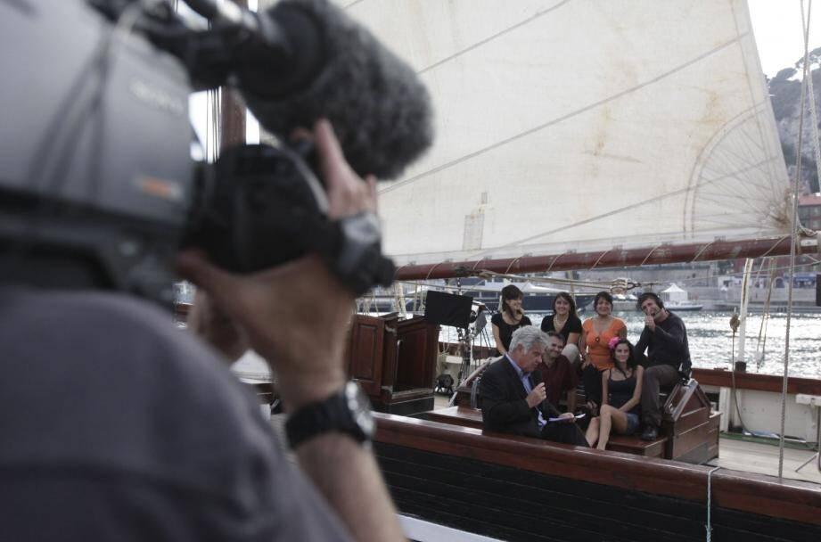 Vendredi dernier, c'est en direct du port de Nice que l'équipe de Georges Pernoud a tourné l'émission. La fameuse goélette trois-mâts continue sa tournée.