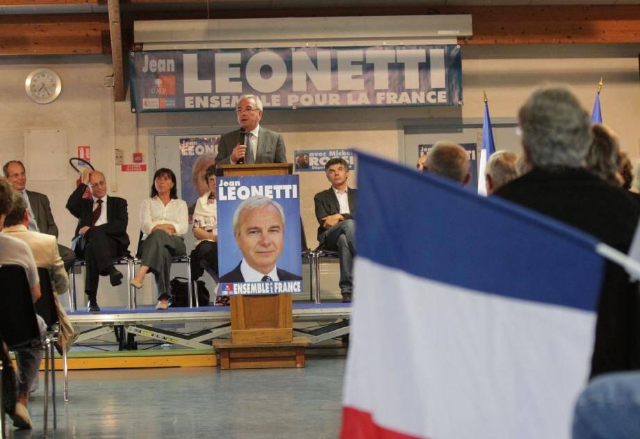 Jean Leonetti plutôt convaincant hier soir, lors de sa réunion publique à Roquefort-les-Pins.