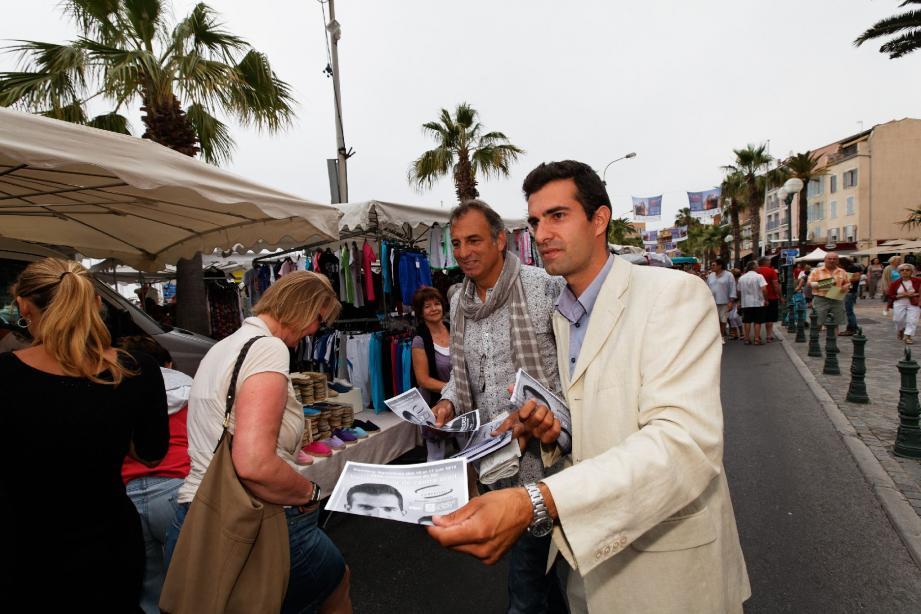 Mercredi matin sur le marché de Sanary, Damien Guttierez distribuait ses professions de foi. Le candidat soutenu par le MoDem sait que ces législatives ne sont qu'une étape.