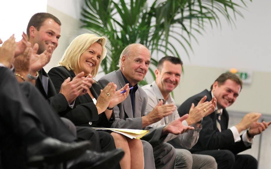 Une salle comble et un parterre d'élus conséquent hier dont Gilbert Pibou, maire de Pégomas et Philippe Tabarot conseiller général de Cannes Centre.