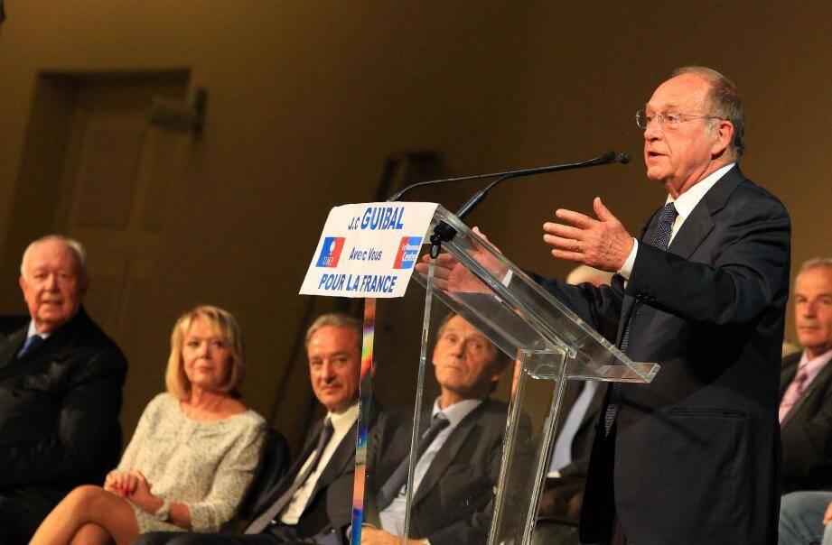 Jean-Claude Guibal : sa dernière réunion avant le premier tour.