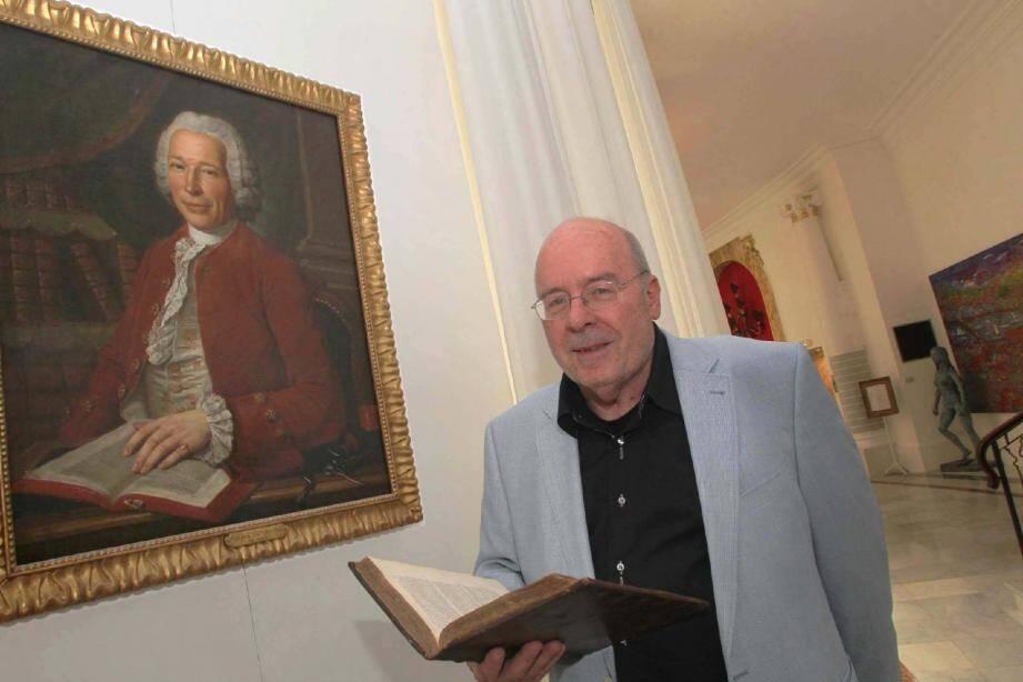 Alain Espesset, a élucidé le mystère du portrait du Negresco au terme de sept années de recherches.