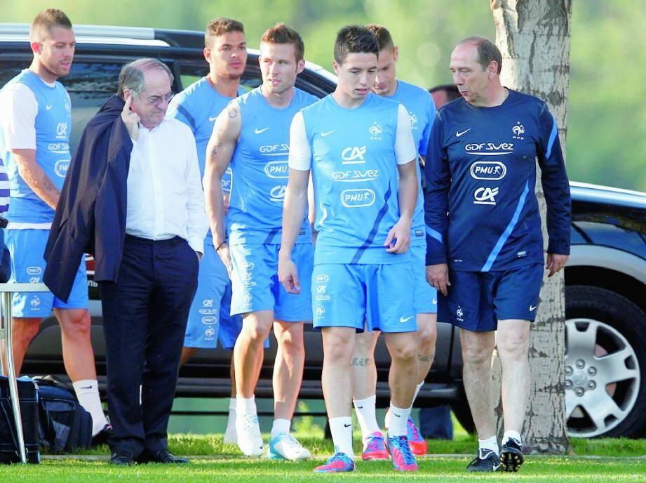 Pour le président de la FFF, les Bleus «sont super-attachants et sont très attachés à l'équipe de France ». (PhotoPQR/Le Parisien)