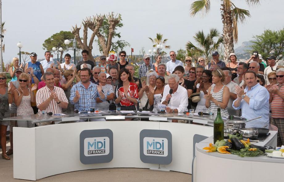 L'équipe de Midi en France a partagé, hier, un beau moment avec les spectateurs mentonnais. Et ça continue aujourd'hui.