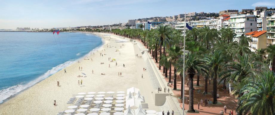 Le jury qui définira les contours de la nouvelle Promenade des Anglais pourra s'inspirer des différents travaux d'architectes (ci-dessus) qui constituent aujourd'hui la boîte à idées. Ces dessins n'ont donc rien de définitif.
