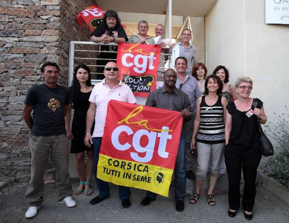 Une vingtaine de resposnables CGT, ainsi que le secrétaire général CGT Education, ont pris part au congrès fondateur pour le nouveau syndicat régional de l'édcuation CGT.