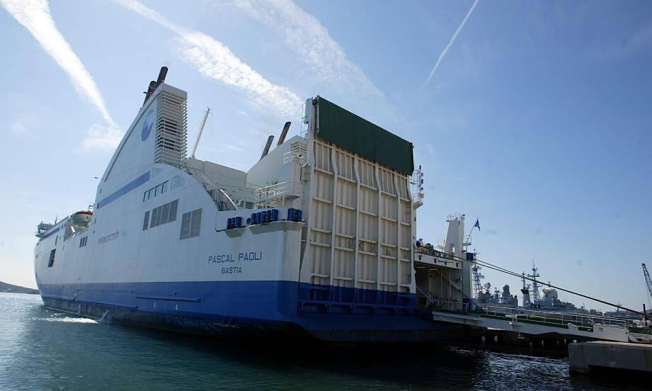 Le navire de la SNCM Pascal-Paoli