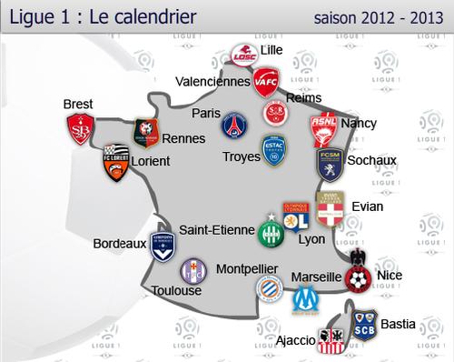 Le calendrier de la Ligue 1
