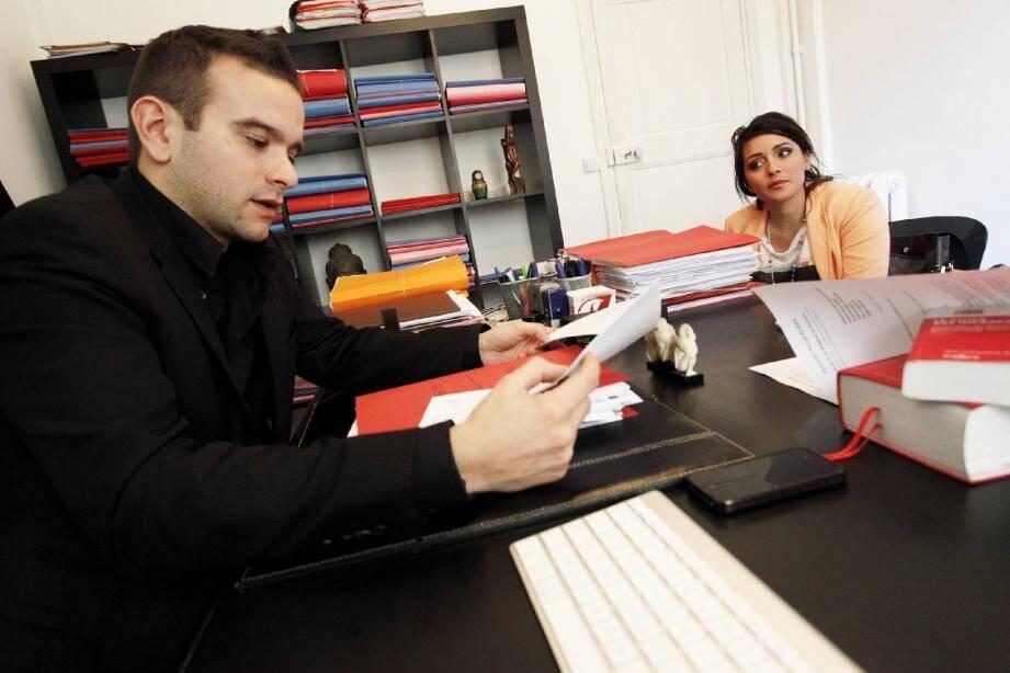 Jean-Claude Elfassi a dénigré Audrey Fontana(ci-dessus face à son avocat Me Kozan) avec une rare violence sur Internet.
