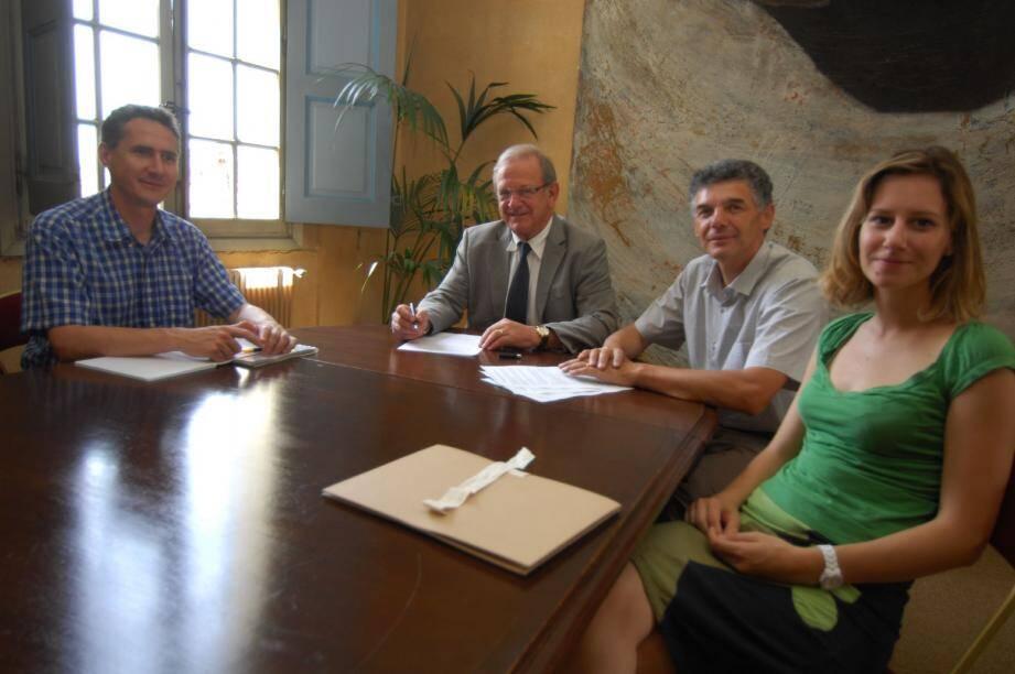 David Faure-Vincent, Jean-Pierre leleux, Eric Mèle et Maud Boissac.