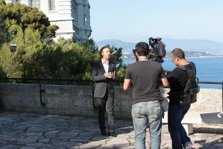 Après s'être rendue au palais princier et à l'opéra, l'équipe de l'émission présentée par Stéphane Bern a tourné samedi après-midi au Musée océanographique.