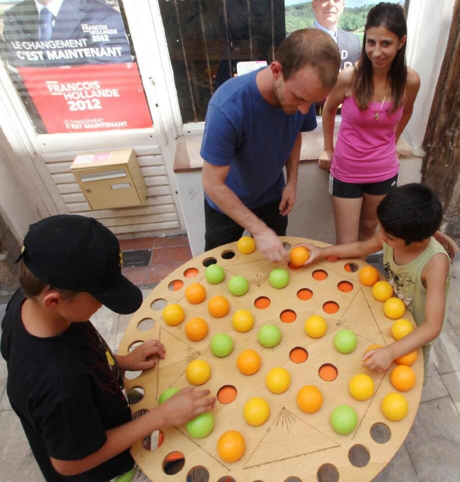 Pour la première semaine des quartiers d'été, les jeux étaient de sortis, hier, rue de Trans.
