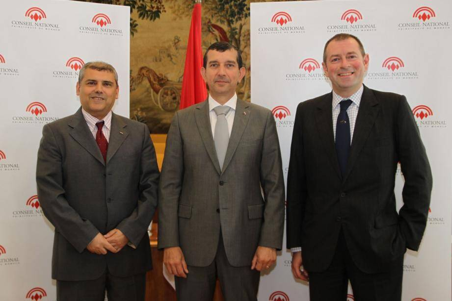 Alexandre Bordero, Jean-François Robillon et Jean-Charles Gardetto, ont évoqué différents sujets lors d'un point presse, hier, au Conseil National.