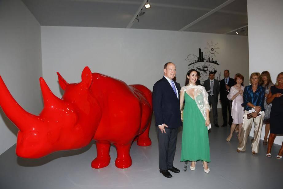Dès 10 heures aujourd'hui, Extra large ouvre au public après l'inauguration hier soir par le prince Albert II. À 14 h 30 aura lieu une rencontre exceptionnelle avec Yan Pei-Ming.