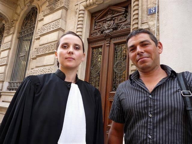 Sandie Castagnon, avocate du couple de policiers qui refuse d'être réintégré à La Seyne.