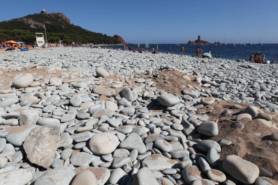 La plage dite « du Débarquement » au Dramont. Photo Philippe Arnassan)