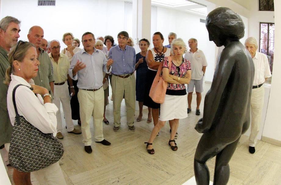 Une visite guidée fort intéressante du musée.