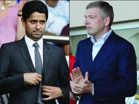 Les présidents du PSG et de l'AS Monaco, Nasser Al-Khelaifi et Dmitry Rybolovlev, ont une puissance financière et des ambitions XXL.