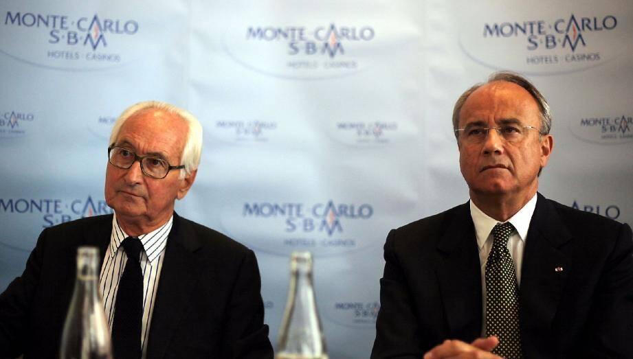 Jean-Louis Masurel, administrateur-délégué et Jean-Luc Biamonti, président du CA de la SBM restent prudents sur l'avenir même si le groupe semble avoir stoppé sa chute.