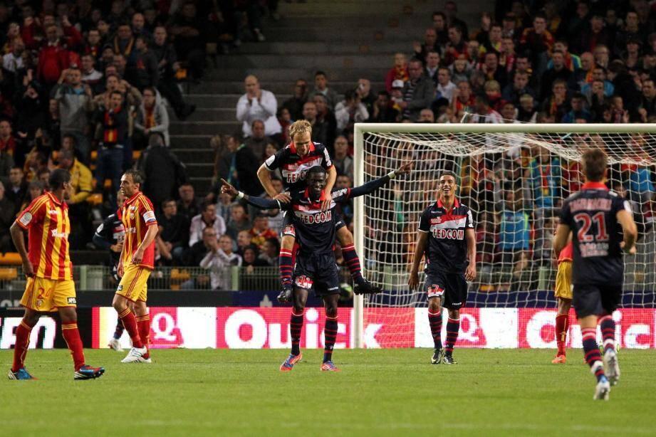 Félicité par Valère Germain, Ibrahima Touré a fait le show hier soir au stade Bollaert en inscrivant trois buts après la pause.