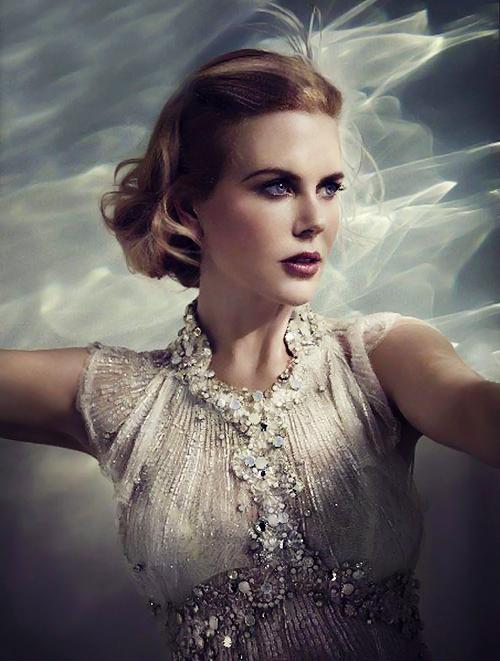 """Nicole Kidman pose en Grace Kelly pour le magazine australien """"Who""""."""