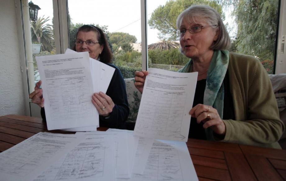 Marie-Josée Rebullida et Claudine Maurine sont à l'origine de la pétition.