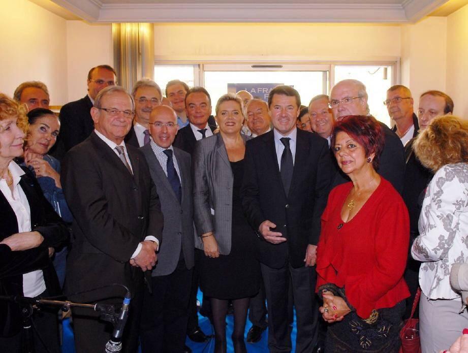 L'heure de la réconciliation entre Michèle Tabarot, Eric Ciotti, et Christian Estrosi ? Pas encore, la photo date de mars 2012, jour de la mise en place du comité de soutien 06 à Nicolas Sarkozy...